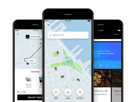 Customized Rideshare Experiences - 'Uber Feed' Brings a Host of Custom Features to the App
