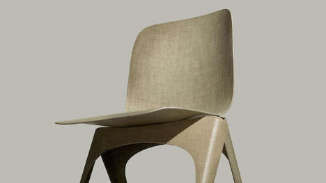 Sustainable Flaxen Chairs - The 'Flax Chair' is Built Entirely from the Linen-like Material