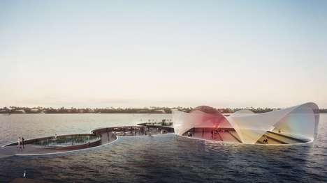 Buoyant Beachside Plazas - Carlo Ratti Associati's Currie Park Design Will Use Submarine Technology