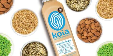 Plant-Powered Protein Drinks - The Brand 'Koia' Offers Protein Drinks Based in Almond Milk