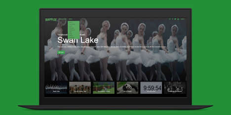 Sleepy Video Streaming Services - Napflix Streams Torpor-Inducing Content
