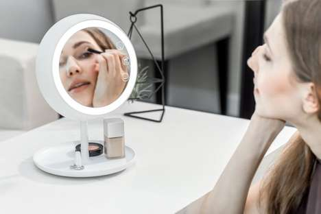 Smart Makeup Mirrors - The JUNO Makeup Light Mirror Offers Adjustable Lighting for Accuracy