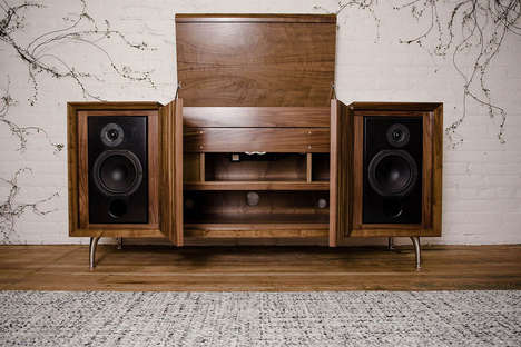 Modernized Vinyl Cabinets - The Wrensilva Standard One is a Technologically Update Record Console