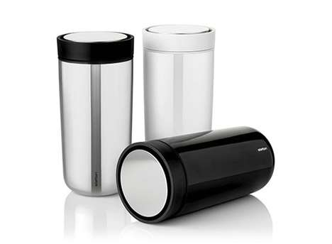 Click-Top Travel Mugs - This 'Stelton' Mug is Able to Avoid Spills While Traveling