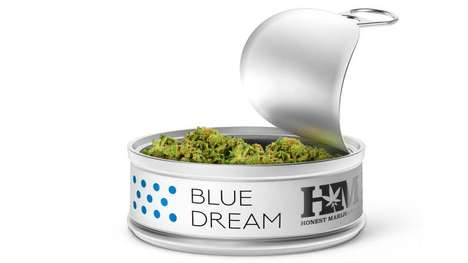 Food-Grade Marijuana Cans - The Honest Marijuana Co. Keeps Its Strains Fresh in Tin Cans
