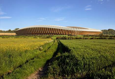 Wooden Football Stadiums - The Forest Green Rovers New Stadium is the First Ever All-Wood Design