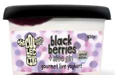 Blackberry Gin Yogurts - The Collective Great Dairy's Milk Yogurt Features a Splash of Sloe Gin