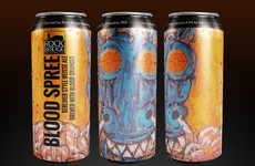 Gruesome Orange Ales - Rock Bridge Brewing Co.'s Blood Orange Ale is Branded as 'Blood Spree'