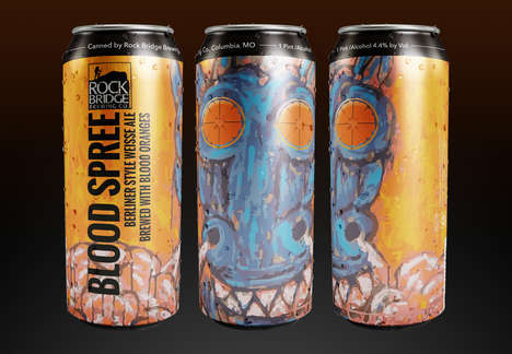 Gruesome Orange Ales - Rock Bridge Brewing Co.'s Blood Orange Ale is Branded as 'Blood Spree'