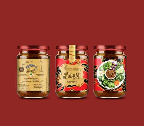 Thai Chili Fish Sauces - This Food Product's Branding is Inspired by Its Asian Roots