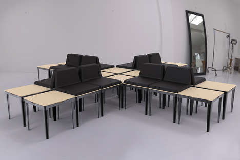 Transforming Minimalist Furniture - The Adaptable Furniture Series Features Limitless Orientations