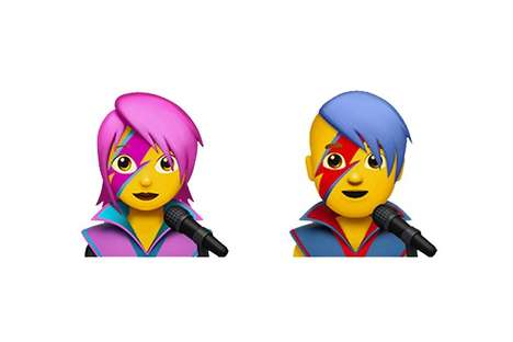 Iconic 70s Singer Emojis - These David Bowie Emojis are a Part of Apple's iOS 10.2 Update