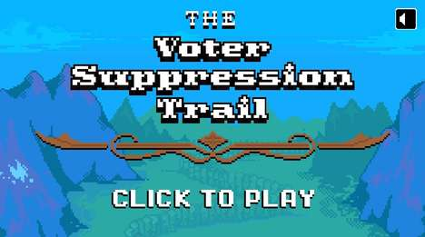 Politicized Voting Video Games - 'The Voter Suppression Trail' is a Game from the New York Times