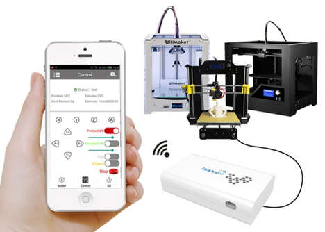 3D Printer Smartphone Adapters - The Borlee Box Enables 3D Printer Control from a User's Smartphone