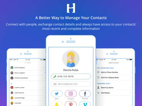 Business Networking Contact Apps - Handshake Allows Users to Manage Contacts and Share Their Info