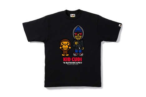 Mascot Rapper T-Shirts - BAPE Joined with Kid Cudi, Big Sean and Travis Scott for a New Line
