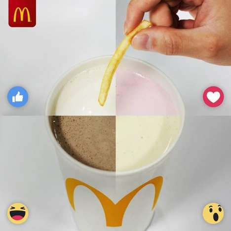 French Fry Milkshake Dips - McDonald's UK Suggests Combining Fries and Milkshakes in an Unusual Way