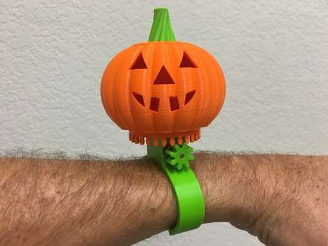 Motorized Pumpkin Bracelets - This 3D-Printed Bracelet Design Boasts Animated Parts