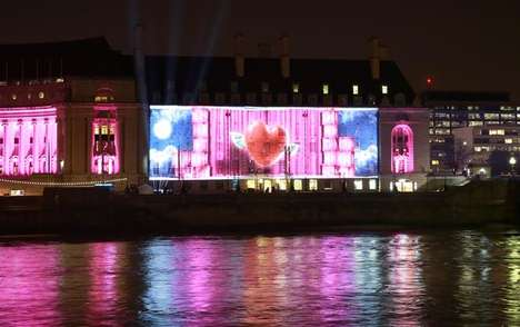 Projected Christmas Campaigns - Very.co.uk's Holiday Ad Campaign Was Shared on London Buildings