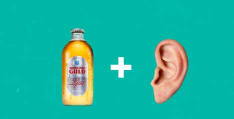Auditory Beer Campaigns - Norrlands Guld Ljus' 'Ear Beer' is Enjoyed by a Sense Other Than Taste