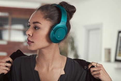 Distraction-Free Headphones - Sony's 'h.ear on Wireless NC' Headphones Stylishly Deter Distractions