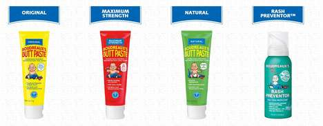 Playful Diaper Rash Packaging - Boudreaux's 'Butt Paste' Brings a Smile to Faces of All Kinds