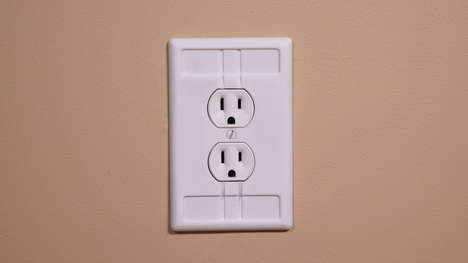 Tactile Outlet Plugs - The 'Touch & Plug' Offers a Revolutionary Take on the Age-Old Wall Plate