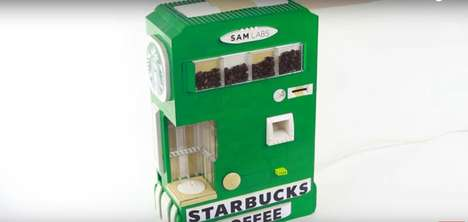 LEGO Coffee Makers - Astonishing Studios' 'LEGO Coffee Maker' Dispenses Starbucks Coffee