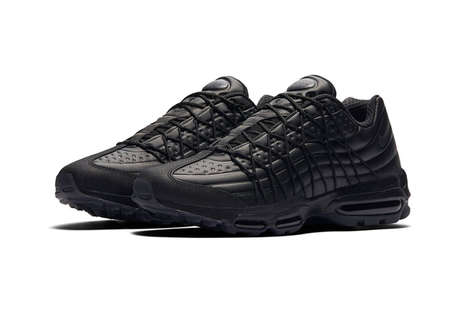 All-Onyx Sneaker Updates - These New Black Nike Air Max 95s Modernize a Popular Retro Design