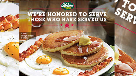 Veteran-Honoring Meal Deals - Perkins is Offering Free Magnificent Seven Meals on Veterans Day