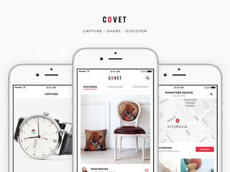 Retail Product Share Apps - 'Covet' Allows Users to Share IRL Products with Their Followers