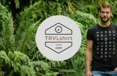 Translating Travel Shirts - This Shirt Has Icons That Allow Its Wearer to Navigate in New Countries