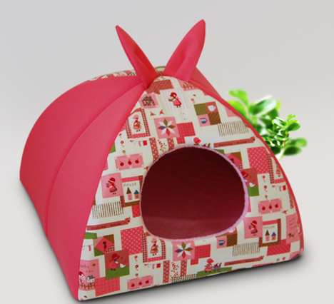Graphic Pet Tents - These Pet Beds Are Ideal for Small Dogs and Cats