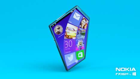 Prismatic Concept Phones - The Nokia Prism is an All-New Smartphone Concept with a Unique Form