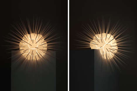 Explosion-Inspired Illuminators - The 'Moment' Lamp Light Draws Inspiration from War