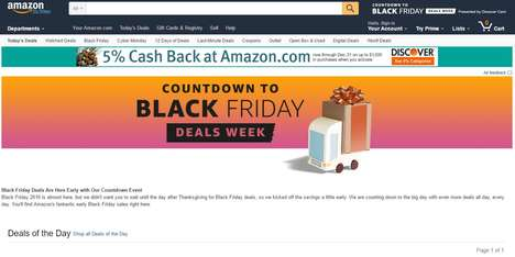 Ultra-Extended Black Friday Promotions - Amazon's 'Black Friday Deals Store' Lasts 52 Total Days