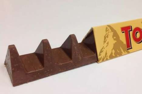 Updated Swiss Chocolate Bars - The New Toblerone Features a Shape That's Slightly Less Dense