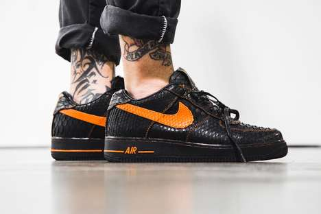 Co-Branded Python Sneakers - The Shoe Surgeon Designed a Lavish Pair of Vlone Nike Air Force 1s
