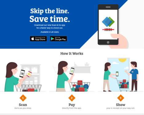 Queue-Jumping Retail Apps - Sam's Club's 'Scan & Go' App Helps Black Friday Shoppers Avoid Lines