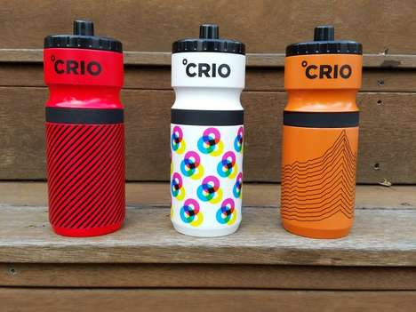 High-Tech Exercise Water Bottles - Crio Uses Cryogel to Keep Liquids Hot or Cold Longer