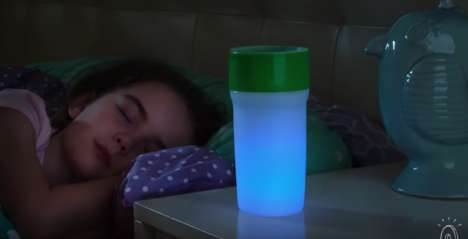 Illuminated Drinking Cups - The 'Litecup' Serves as a Water Bottle and a Night Light for Kids