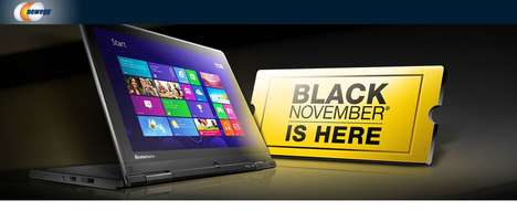 Month-Long Deal Holidays - Newegg's 'Black November' Extends Black Friday for the Entire Month
