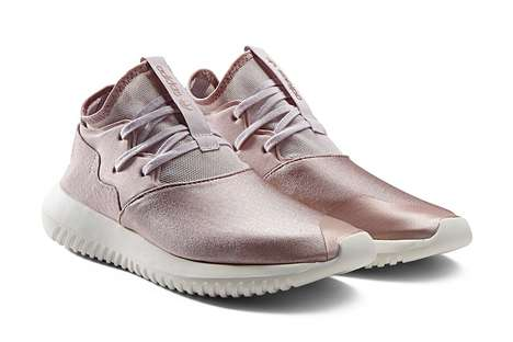 Frosty Rose Sneakers - The New 'Tubular Entrap' from Adidas Features a Futuristic Feminine Look