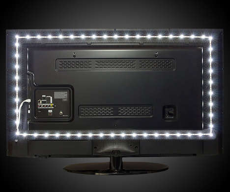 Background-Illuminating TV Lights - The Luminoodle LED TV Backlight Sets the Tone for Better Viewing