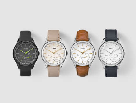 Discreet Smart Wrist Watches - The Timex IQ+ Move Smartwatch Balances Between Analog and Digital