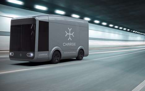 Efficient Electric Shipping Trucks - The Charge Truck Could Cut Operating Costs and Emissions