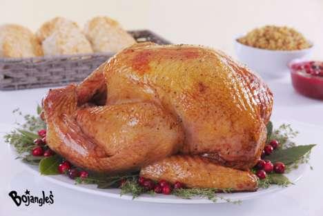Convenient Fast Food Turkeys - Bojangles' Seasoned Fried Turkey is a Hassle-Free Thanksgiving Option