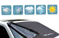 Vehicular Windshield Protectors - The KDL Windshield Cover Protects Against Snow, Sun and More