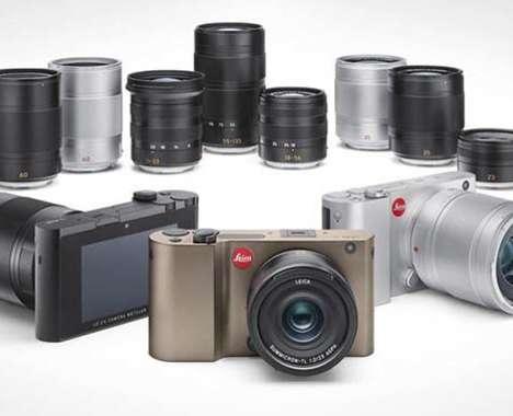 Retro Aluminum Design Cameras