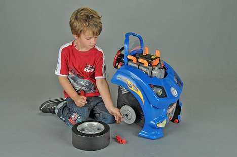 Educational Toy Mechanic Kits - The Theo Klein Service Car Station Simulates Car Repair for Kids